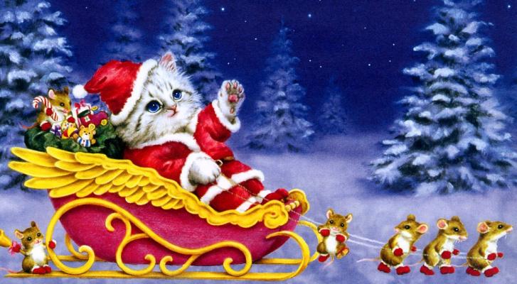Каёми. Рождественский кот