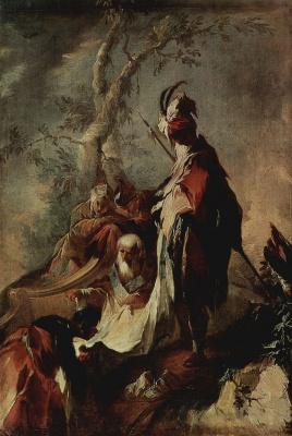 Франц Антон Маульберч. Апостол Филипп крестит евнухов