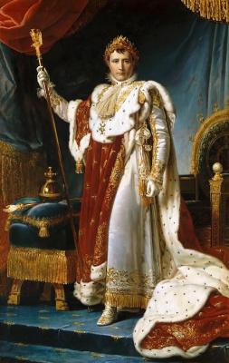 Napoleon in coronation robes