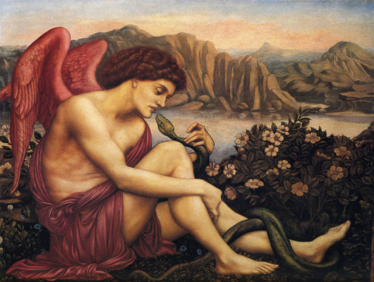 Evelyn De Morgan (Pickering). Angel and snake