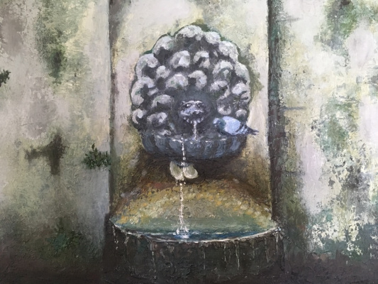 Larisa Benko. Drinking fountain in Borghese park