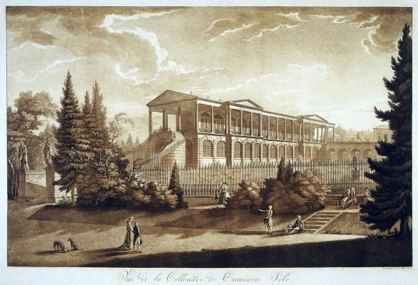 Иоганн Христофор де Майр. Вид Камероновой галереи в Царском Селе