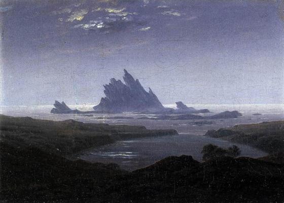 Caspar David Friedrich. Rocky reef by the sea