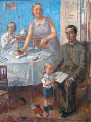 Kuzma Sergeevich Petrov-Vodkin. Family commander