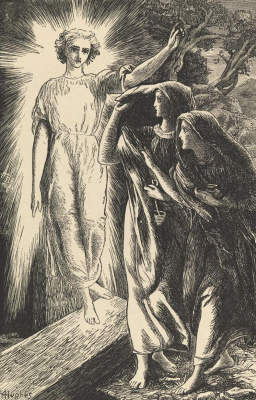 Arthur Hughes. In the tomb