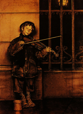 Phil and his violin