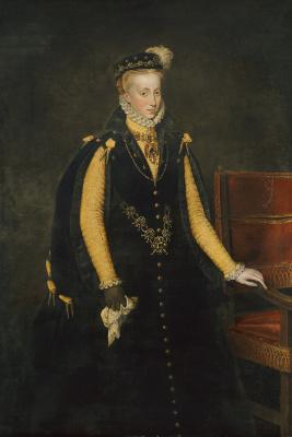 Антонис ван Дасхорст Мор. Анна Австрийская, королева Испании