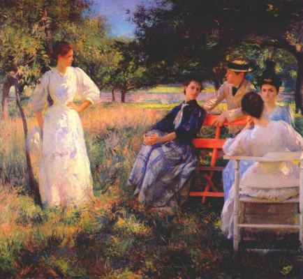 Эдмунд Чарльз Тарбелл. В саду