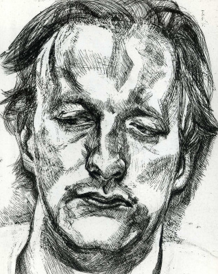 Lucien Freud. Sad man