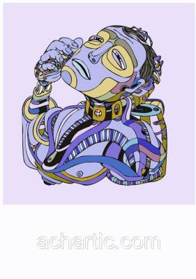A.CH_Digital Art. Bust robot - Бюст робота.