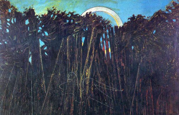 Max Ernst. Embalmed forest
