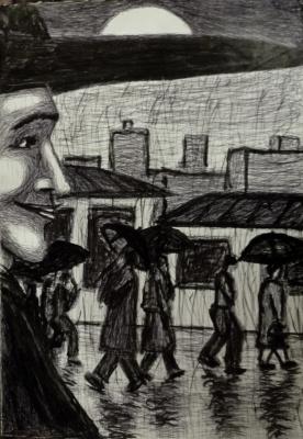 Andrey Victorovich Schekutev. KAROL DOIDA.paper A3 pen marker *