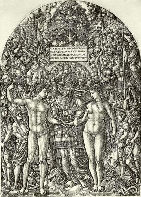 Жан Дюве. Обручение Адама и Евы