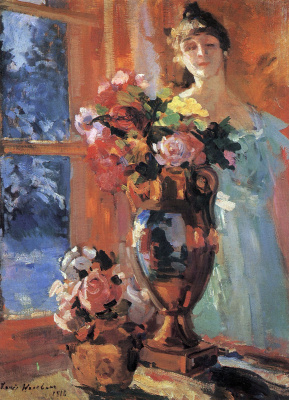 Konstantin Korovin. Still life with a portrait of Pepper