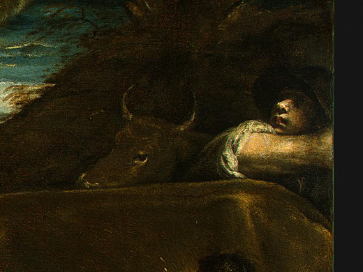 Jacopo da Ponte Bassano. News to the shepherds (detail)