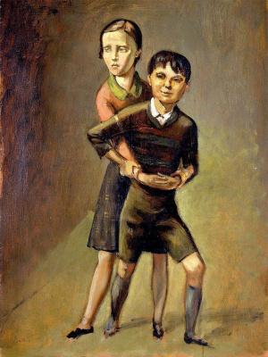 Balthus (Balthasar Klossovsky de Rola). Brother and sister Blanchard