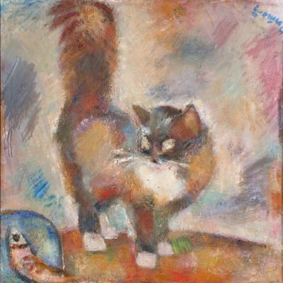 Herman Pavlovich Yegoshin. Cat and fish