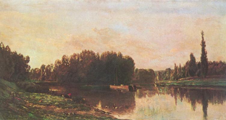 Charles-Francois Daubigny. The confluence of the Seine and Oise