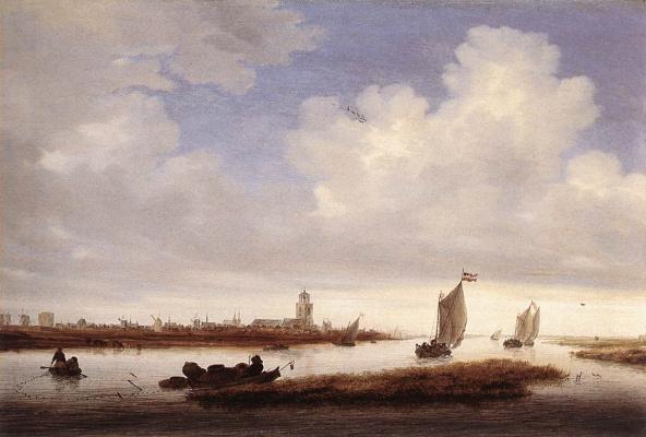Саломон ван Рёйсдал. Вид Девентере замечен с Северо-запада