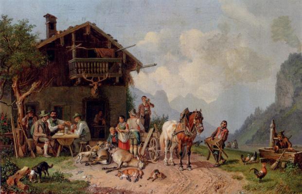 Генрих Буркел. После охоты
