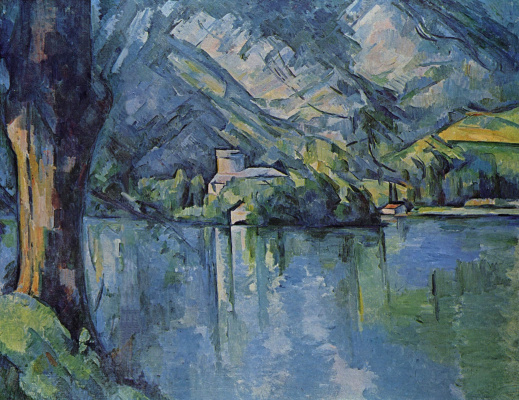 Paul Cezanne. The sea in Annecy