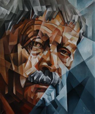 Vasily Krotkov. Memory Of Yuri Levitanskogo. Kubofuturizm