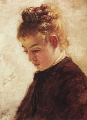 "Vasily Dmitrievich Polenov. The head of the model Blanche Orme. Study for the painting ""Dragonfly"""