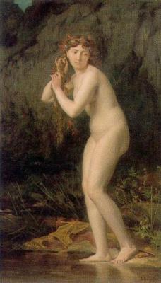 Jules Joseph Lefebvre. Bathing Nude