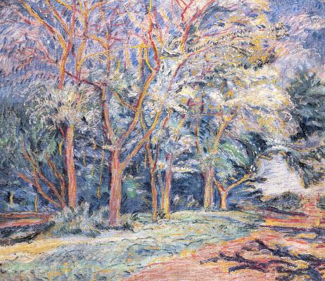 David Davidovich Burliuk. Landscape with trees