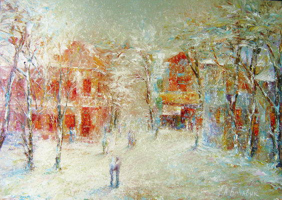 Andrei Ivanovich Boravik. Winter Rakovskaya