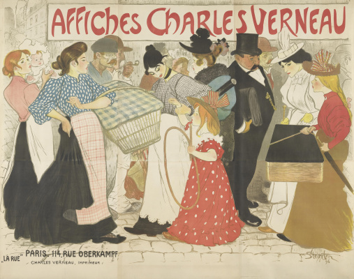 Theophile-Alexander Steinlen. Street. Poster for the typography of Charles Right