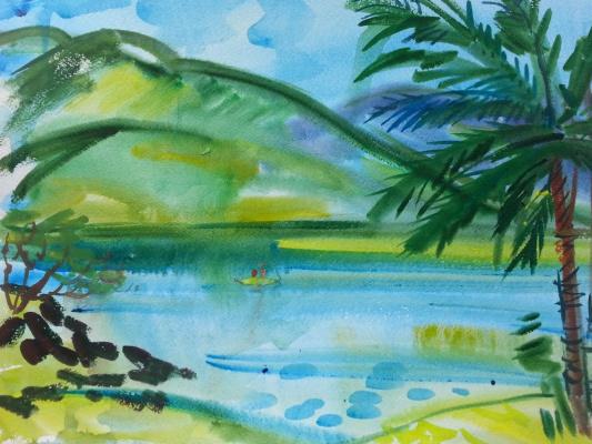 "Natalia Gennadievna Torlopova. Series ""Tropical island""7"