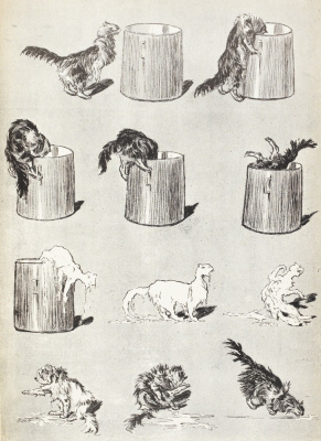 Theophile-Alexander Steinlen. Cats and bucket (Cat's curiosity)