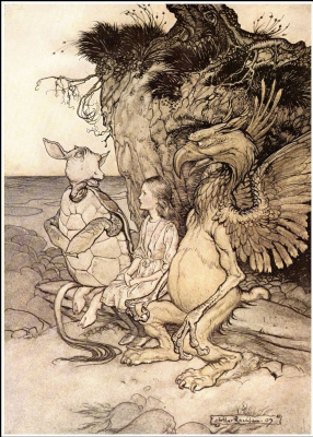 "Arthur Rackham. Illustration for the tale ""Alice in Wonderland"""