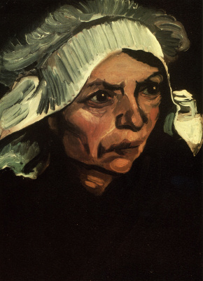 Peasant woman with white cap (option)