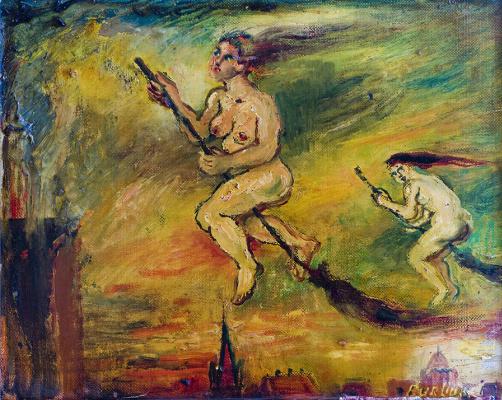 David Davidovich Burliuk. Witches
