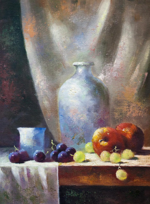 Savely Kamsky. Fruits and objects. Playing color and texture N2