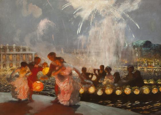 Gaston la Touche France 1854 - 1913. Cheerful festival. 1906