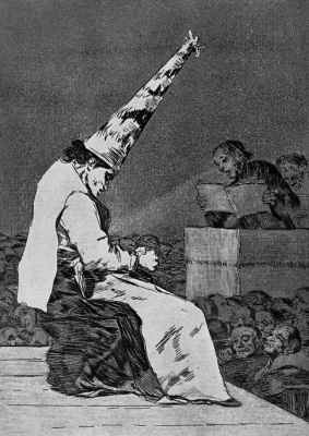 """Francisco Goya. """"From the dust..."""" (from the Series """"Caprichos"""", page 23)"""