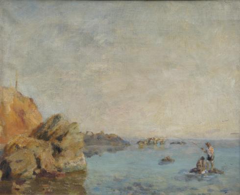 Nikolai Andreevich Shelyuto. Anglers.