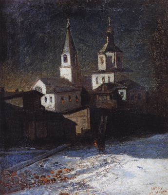 Alexey The Kondratyevich Savrasov. The Church of Elijah the Ordinary in Moscow