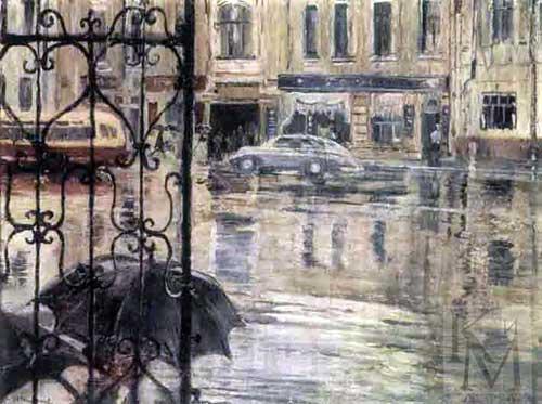 Yuri Ivanovich Pimenov. Torrential rain