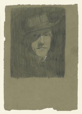 Макс Бекман. Автопортрет в шляпе