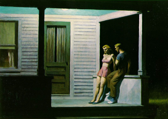 Edward Hopper. Summer evening