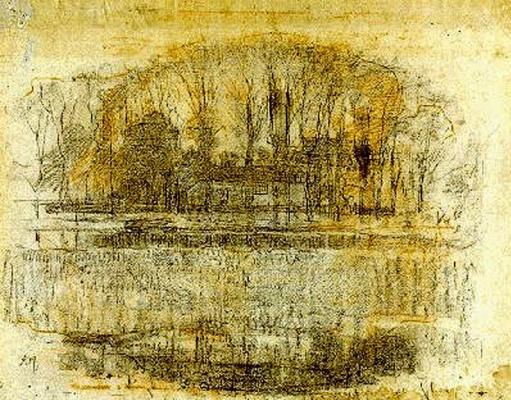 Piet Mondrian. Farm Garrouste, composite sketch