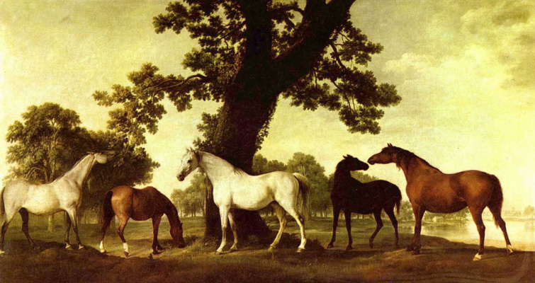 George Stubbs. Horse in a landscape