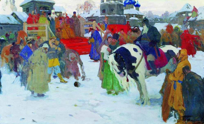 Ivan Goryushkin-Sorokopudov. The judgment of God. 1910s