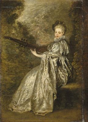 Antoine Watteau. Gentle musician