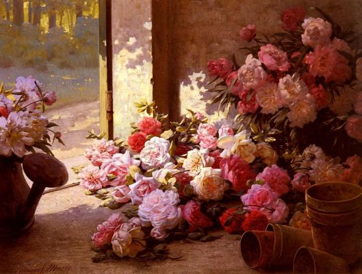 Эдмон Луи Мэр. Брошенные цветы в лейке