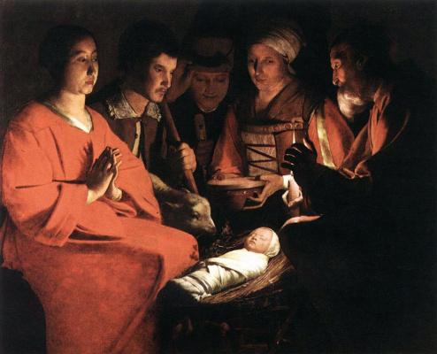 Georges de La Tour. The adoration of the shepherds